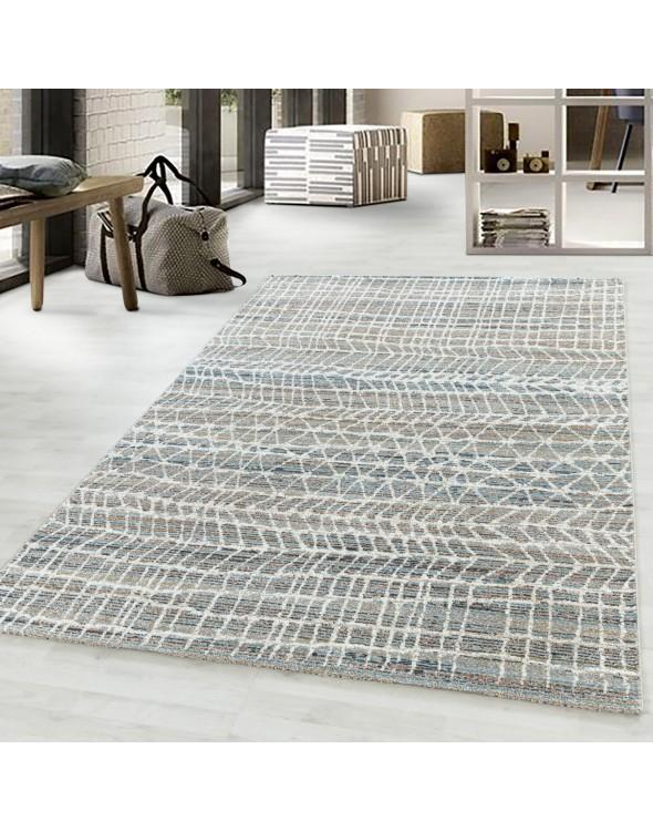 Nowoczesny dywan o ciepłych, pastelowych barwach doskonale ożywi każde pomieszczenie.