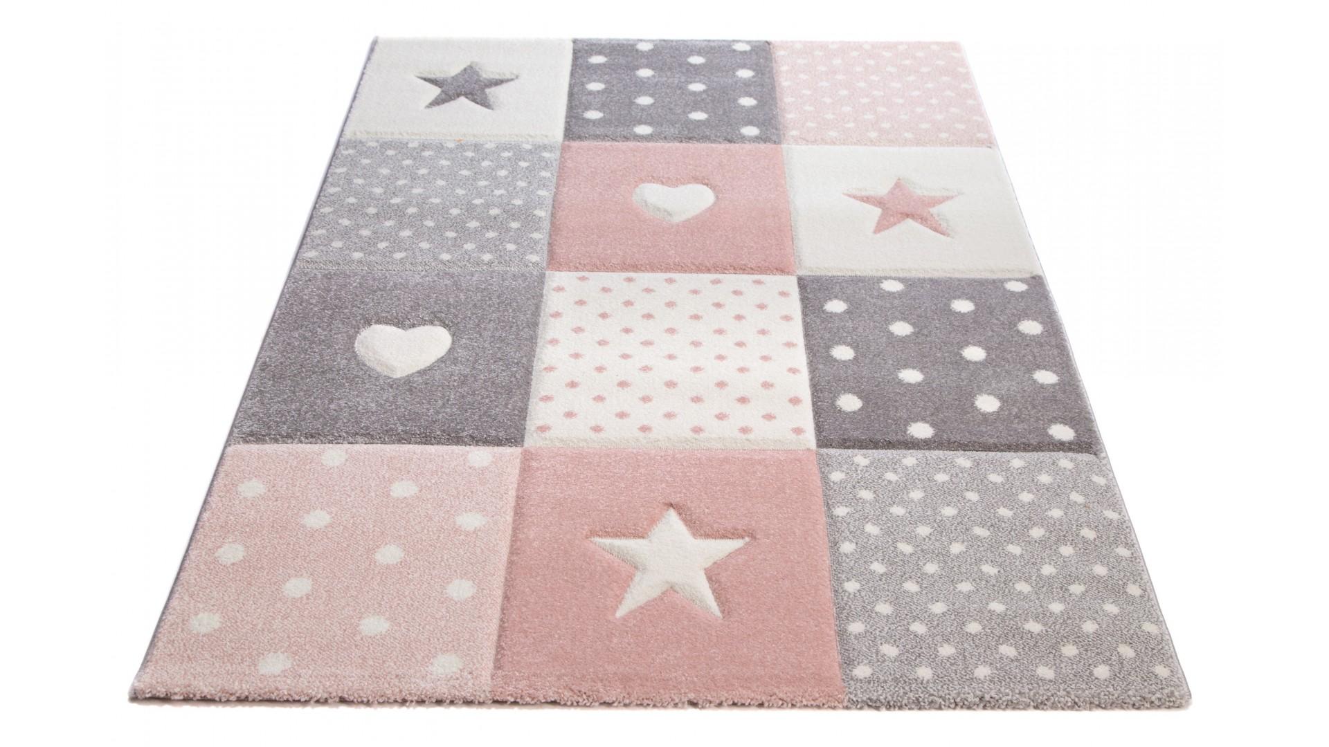 Piękny pastelowy dywan do pokoju dziecięcego.