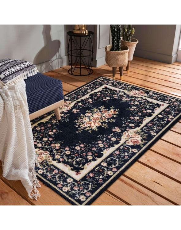 Orginalny dywan do salonyu z przepięknym motywem kwiatów
