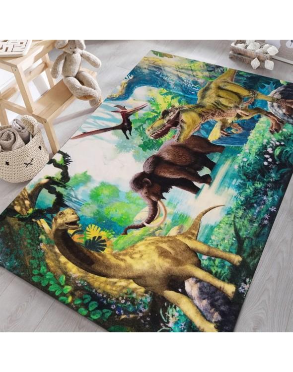 Dywan dziecięcy dla wielbicieli dinozaurów.
