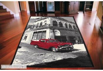 Dywan nowoczesny do salonu HABANA CAR Czarny CITY