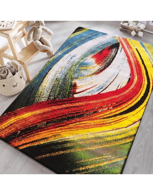 Wielokolorowy dywan do pokoju dziecka.