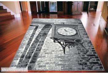 Dywan nowoczesny do salonu OLD CLOCK Popielaty CITY