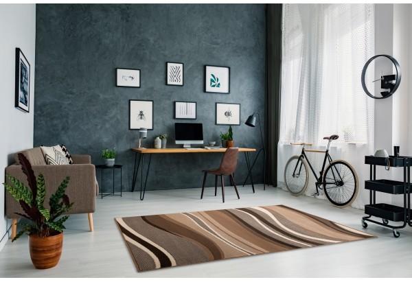 Fala Beżowo - Brązowa z belgijskiej fabryki dywanów ALFA