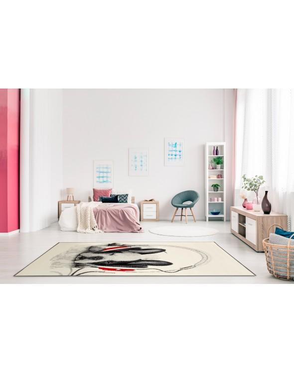 Sypialnia to najlepsze miejsce dla dywanu Zasłuchany Psiak.