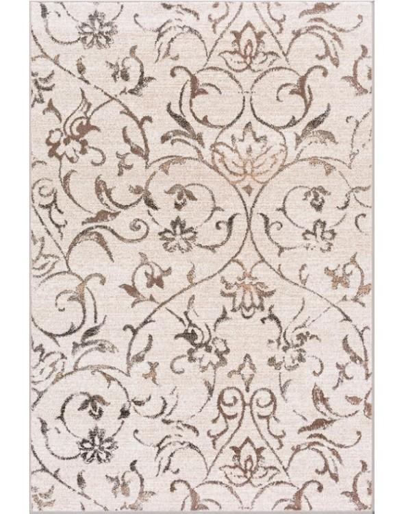 Piękne modne kwieciste barwy dywanu.