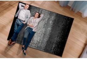 Dywan do salonu nowoczesny SUNSET Biało Czarny Biel Black ALFA