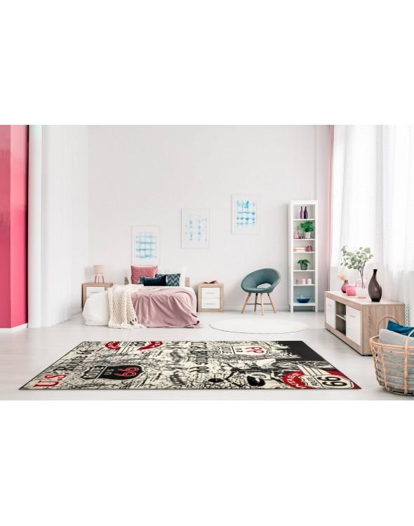 Nowoczesny dywan pokojowy.
