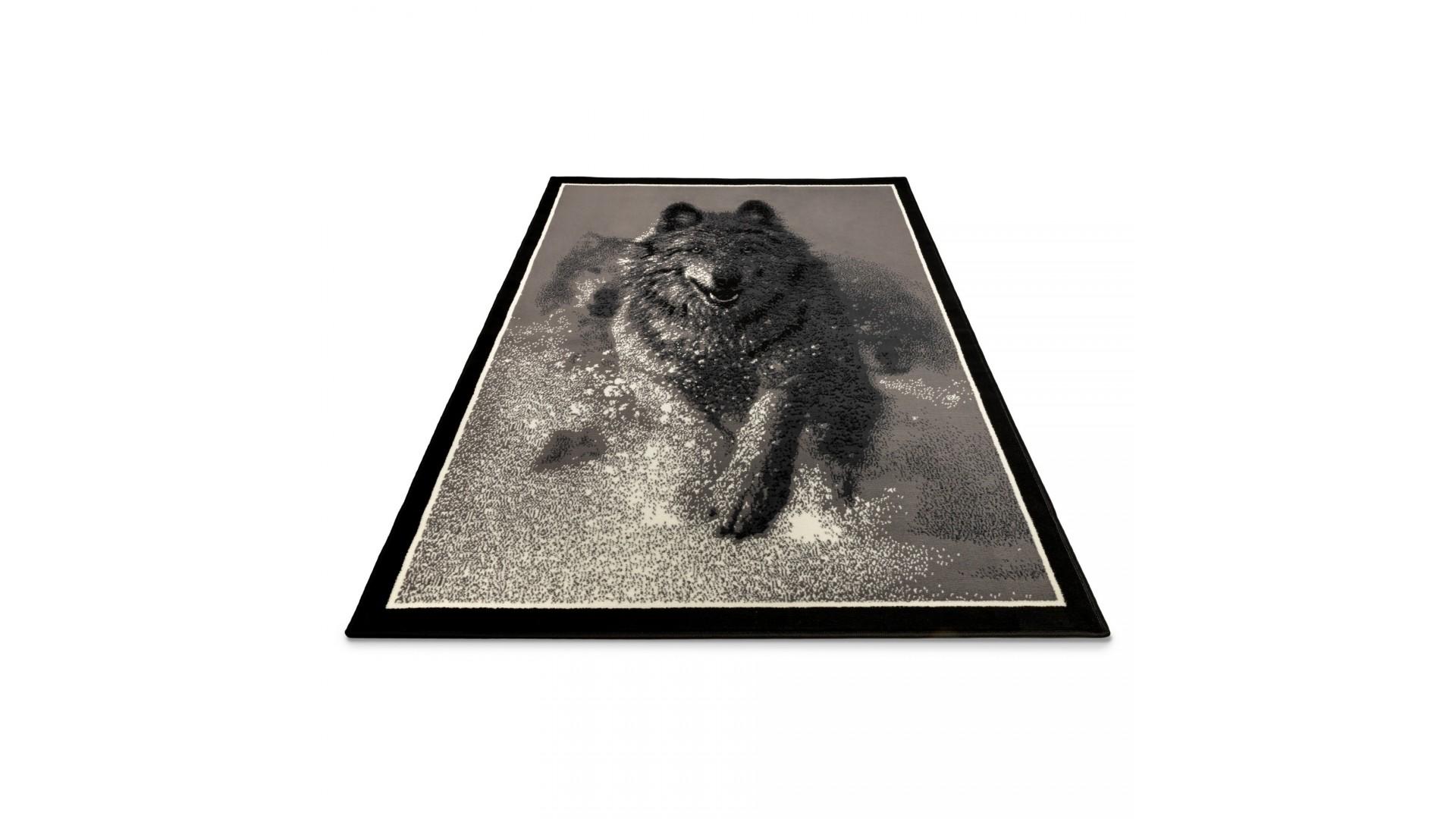 Nowoczesny dywan z przepięknym psem Hasky idealnie pasuje do każdego nowoczesnego wnętrza.
