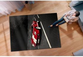 Dywan młodzieżowy AUTO FERRARI Czerń Czerwień CITY