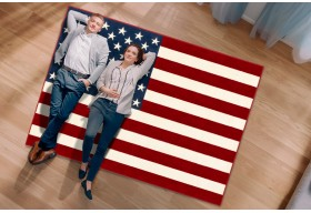 Dywan młodzieżowy do salonu AMERICAN FLAG Flaga Amerykańska ALFA