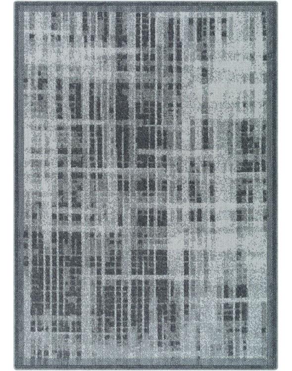 Dywan do salonu o modnych ciemnych barwach dywanu.