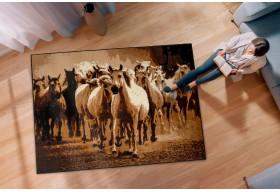 Dywan nowoczesny do salonu GALOP Konie ALFA