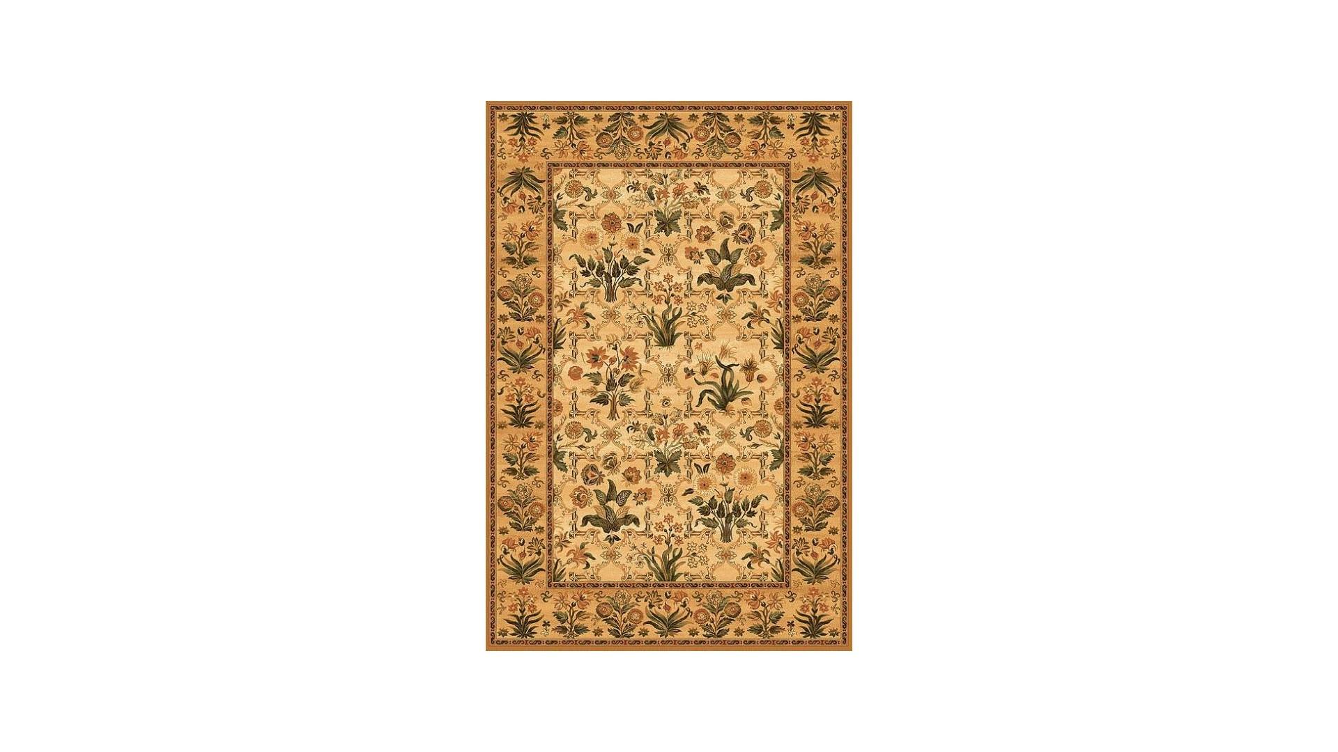 Klasyczny dywan o modnej beżowej barwie.