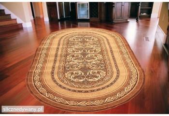 Dywan klasyczny do salonu ARALIA Owal Jasny Brąz STANDARD