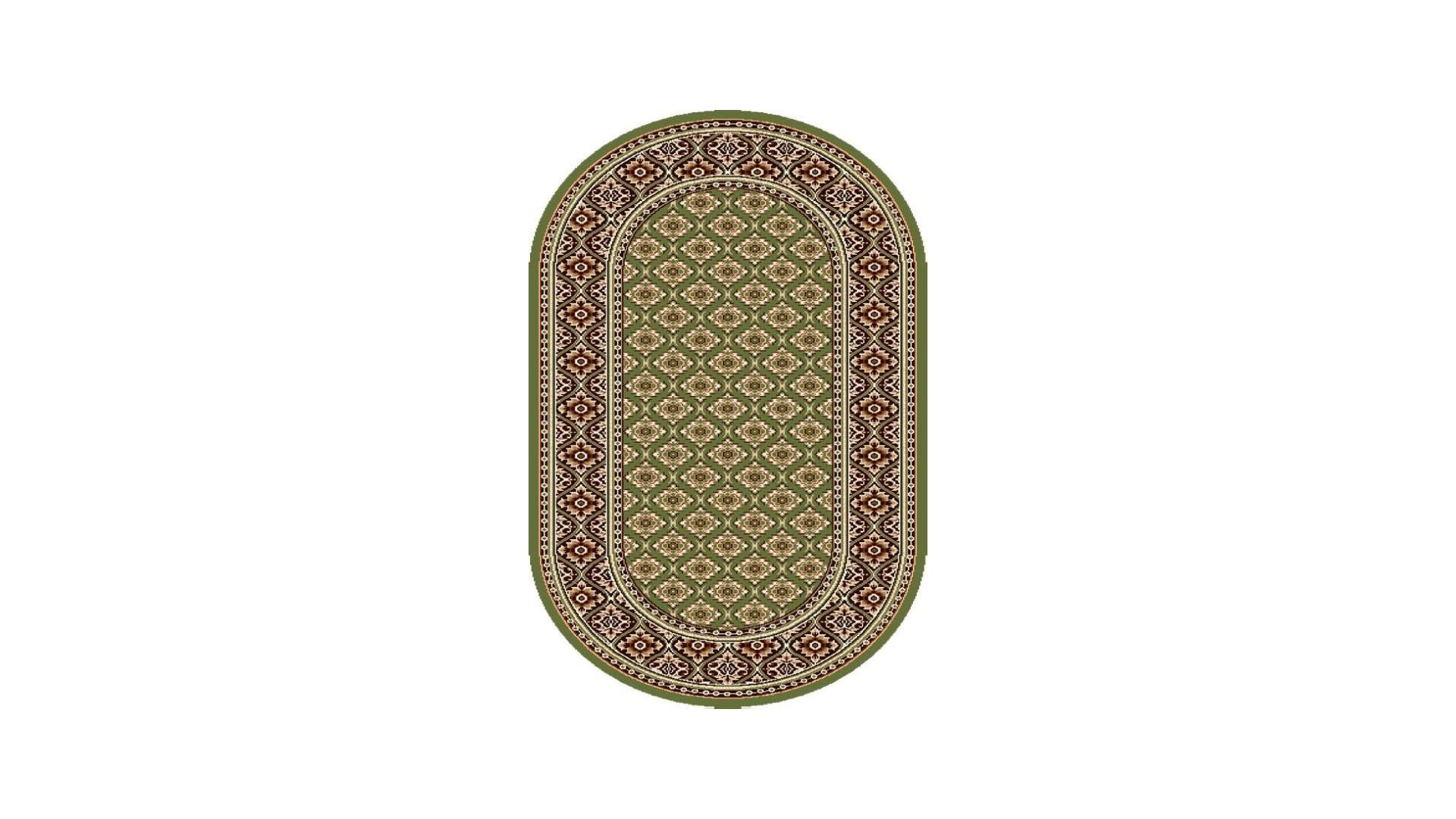Piękne zielone barwy dywanu.