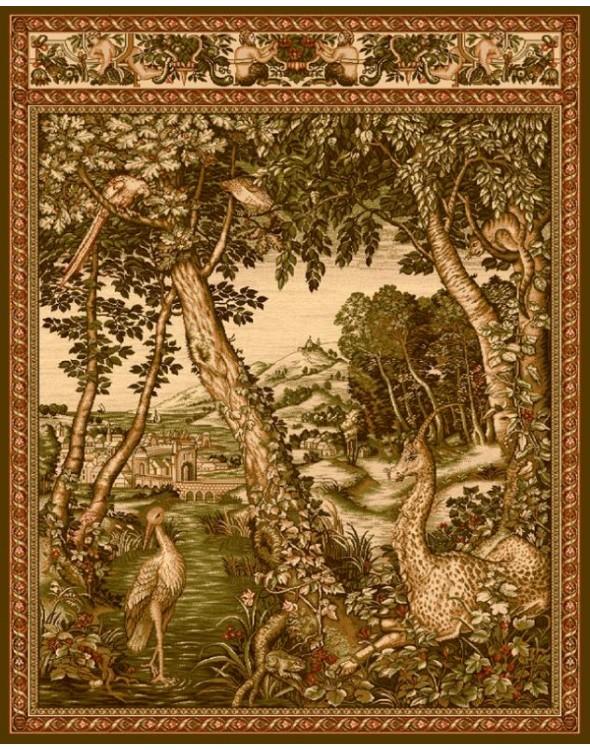 Modny dywan w kształcie kwadratu.  Posiada super wełniane runo.