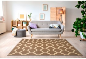 Niezwykle modny dywan Makao Beż z najnowszej kolekcji Alfa nada Twojemu wnętrzu niepowtarzalny charakter.