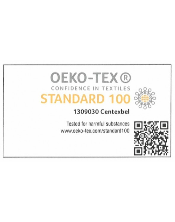 Oeko-Tex Standard 100 - to najwyższy możliwy do uzyskania certyfikat w branży tekstylnej