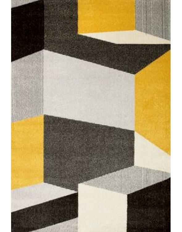 Przepiękny dywan do pokoju dziennego, w modne geometryczne wzory.