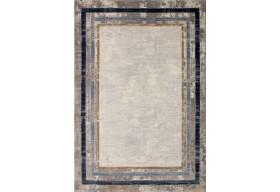 Dywan nowoczesny do salonu SANA Niebiesko Szary OPRA