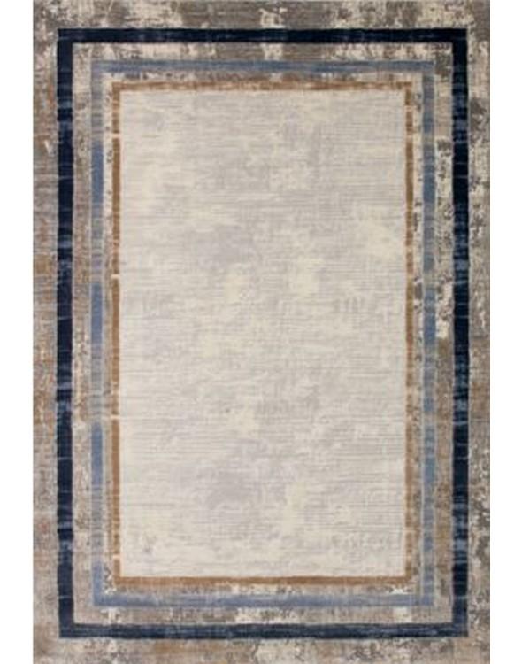 Świetny dywan nowoczesny z modną ramką.