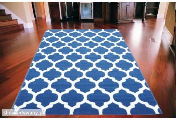Dywan nowoczesny MAKAO Niebieski LUNA