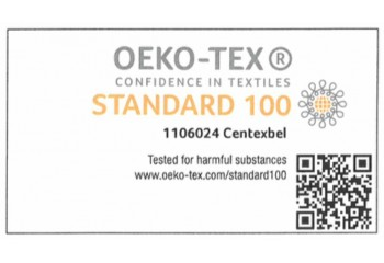 Wszystkie produkowane dywany z fabryki Alfa w Belgii, są oznaczane certyfikatem Oeko-Tex Standard 100
