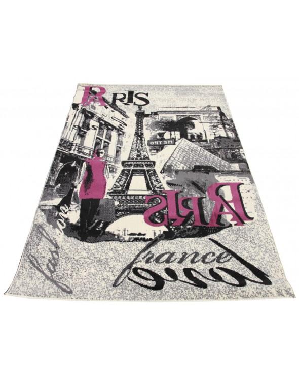 Nowoczesny dywan z pięknym widokiem na Paryż.