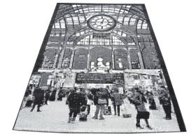 Dywan nowoczesny do salonu GRAND CENTRAL Popielaty CITY
