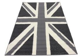 Przepiękny popielaty dywan.