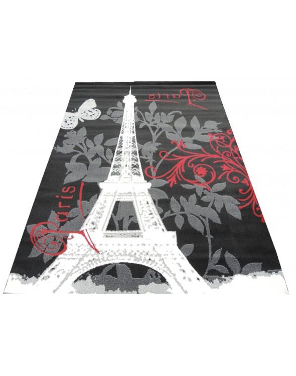 Świetny dywan w modnym wzorze wieży Eiffla.