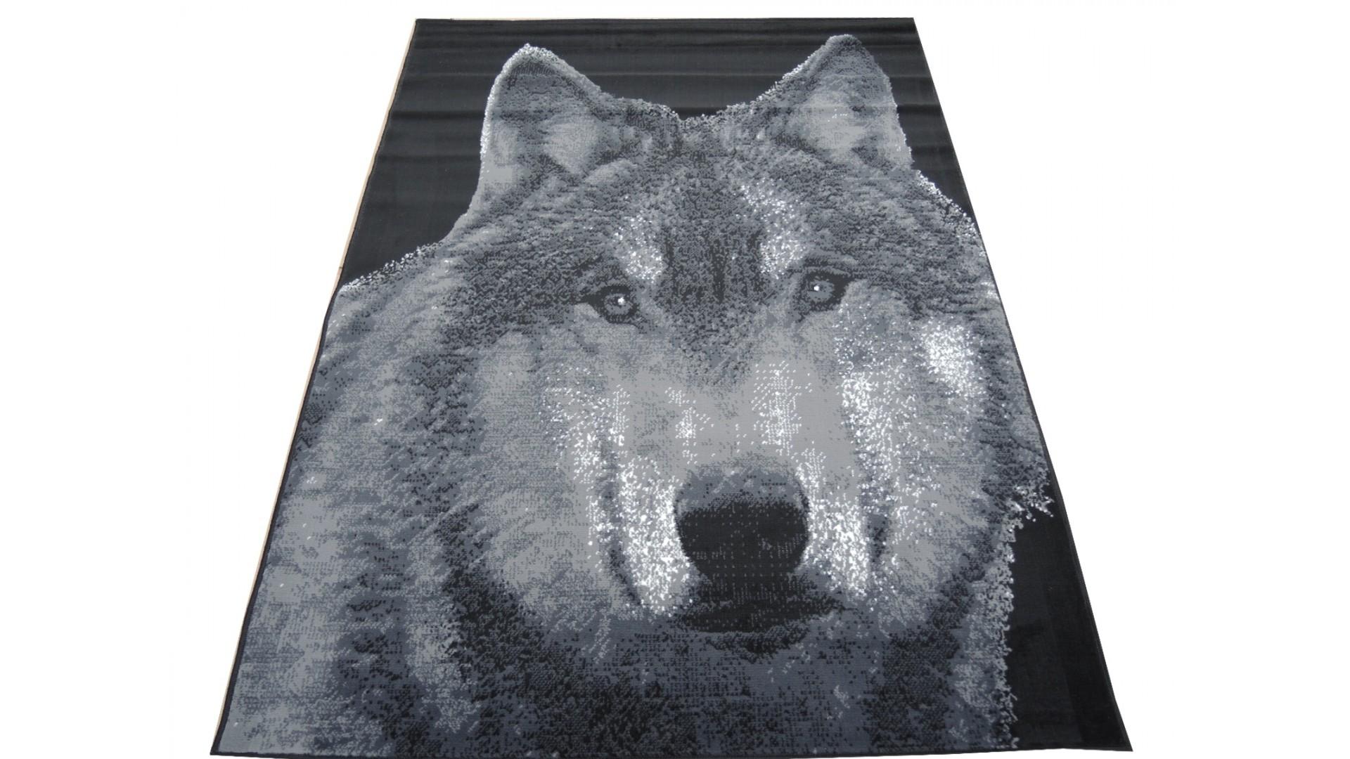 Przepiękny dywan z motywem psa wilczura.