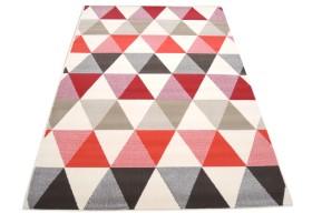 Dywan nowoczesny do salonu ORANO Beżowo Czerwony FLORENCE