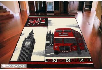 Dywan młodzieżowy LONDON BUS Czarny CITY