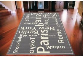 Dywan nowoczesny do salonu WORLD CITIES Szary CITY