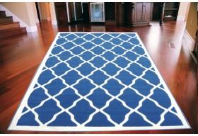 Dywan nowoczesny do salonu KALIF Niebieski FLORENCE