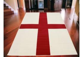 Dywan nowoczesny do salonu ENGLISH FLAG Czerwony CITY