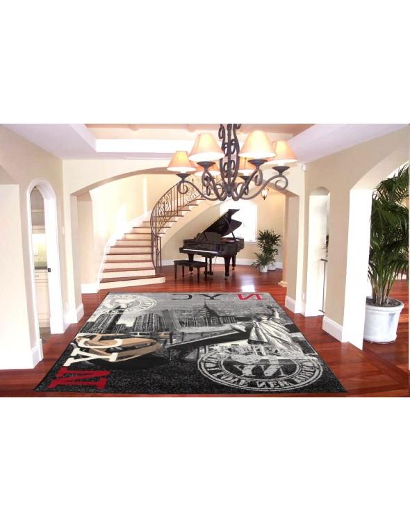 Dywan ten nadaje się zarówno jako dywan pokojowy do salonu.