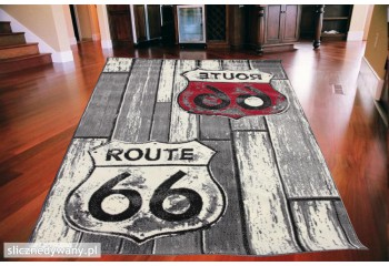 Dywan Route 66 Signs SZARO...