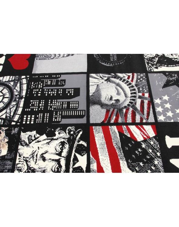 Dywan do pokoju dla młodzieży z symbolami Nowego Jorku.