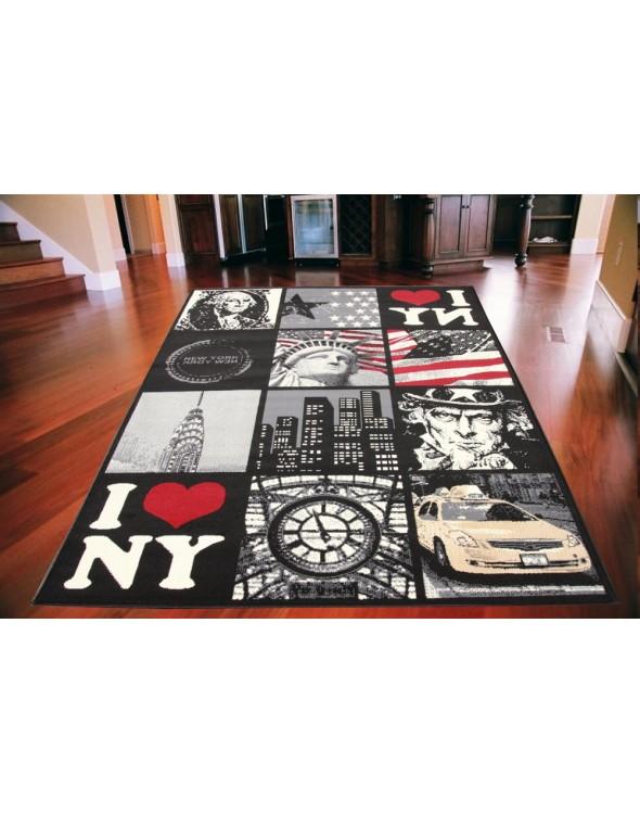 Nowoczesny dywan do pokoju młodzieżowego.