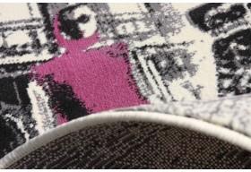 Niepowtarzalny wzór dywanu.