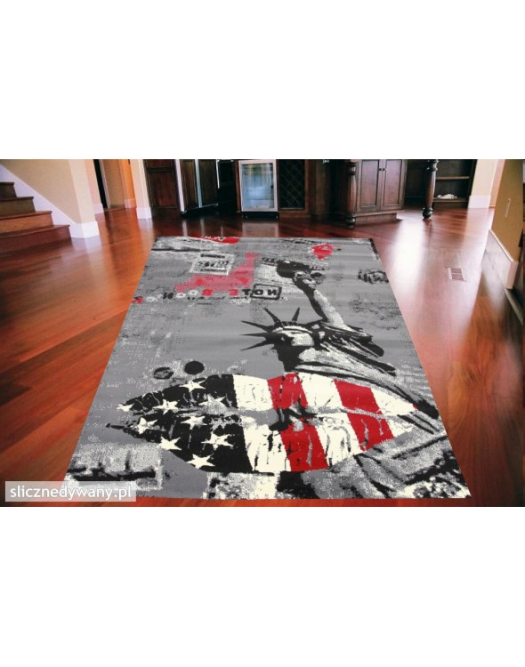 Modny nowoczesny dywan do pokoju młodzieżowego.