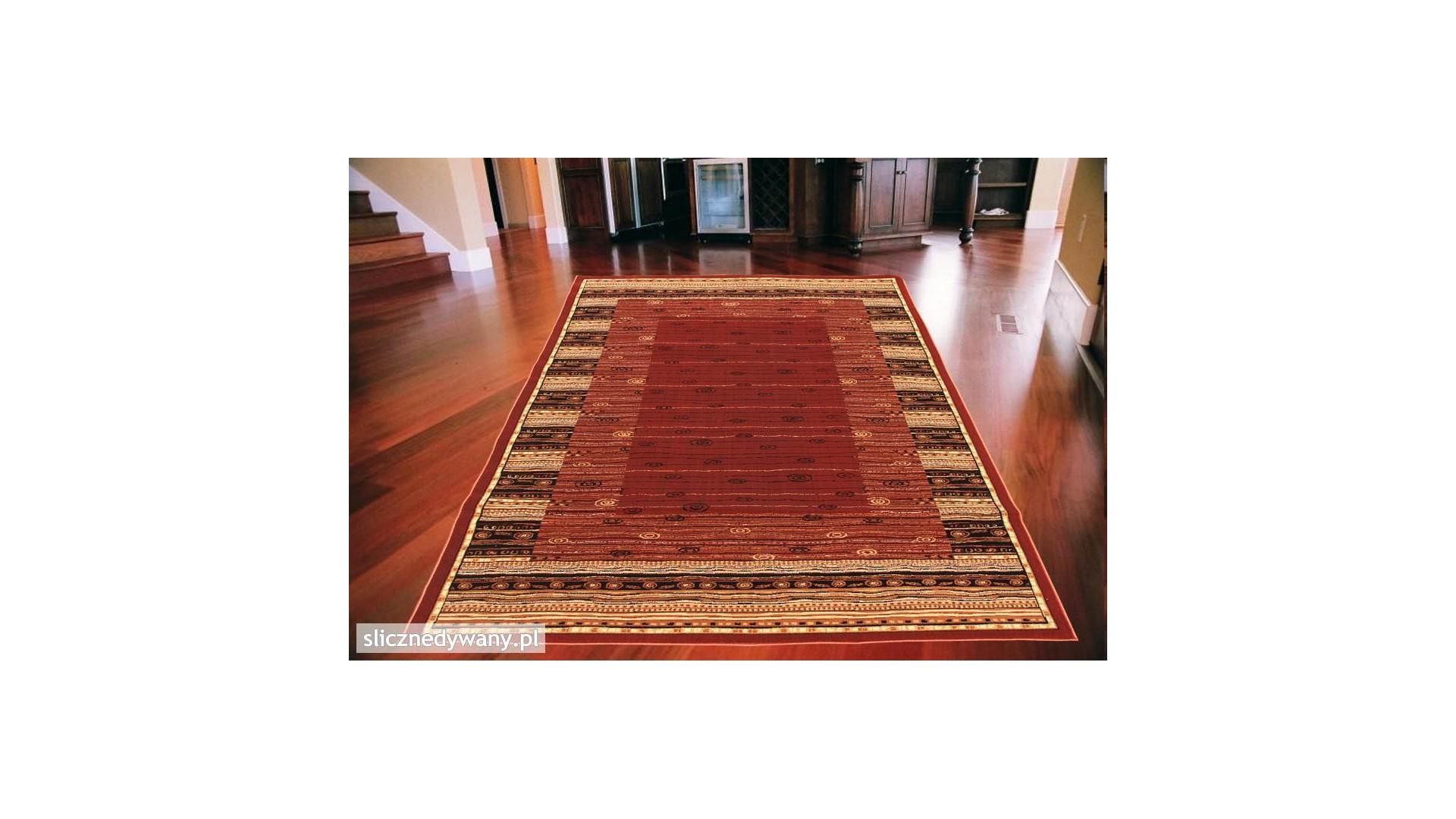 Ciemne barwy dywanu.