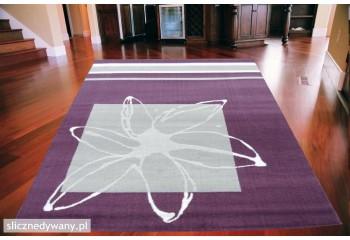 Dywan nowoczesny do salonu KWIAT Lila Popiel ALFA