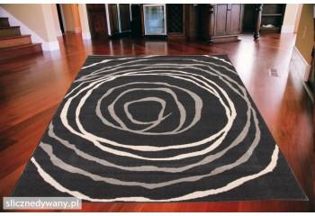 Dywan nowoczesny do salonu BAREL Czarno Popielaty ALFA