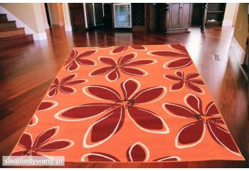 Dywan nowoczesny do salonu Bloom Pomarańcz Bordo ALFA