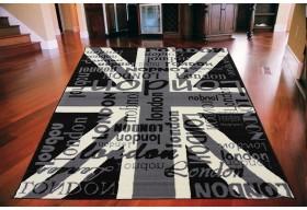 Dywan nowoczesny do salonu UNION JACK LONDON Czarny CITY