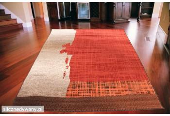 Dywan nowoczesny do salonu SHAD Red Orange ALFA
